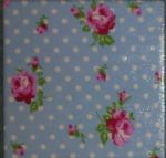 Tanya Whelen Delilah Buds Pink or Blue Ceramic Wall Tiles Decor/Inset